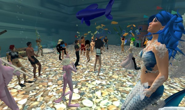 SecondLife aquarium
