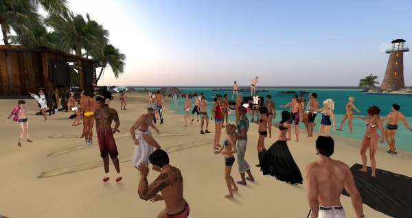 SecondLife beach