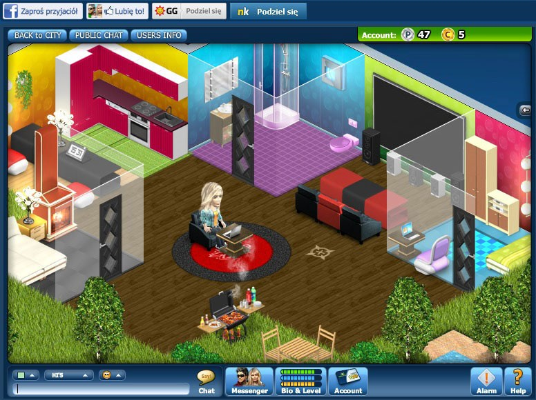 Adult virtual world game